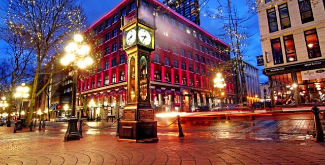 Ponto turístico Gastown em Vancouver