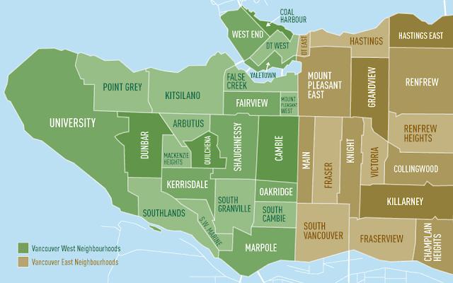 Onde ficar em Vancouver - Mapa