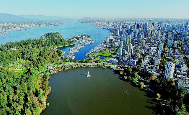 Vista do Stanley Park em Vancouver