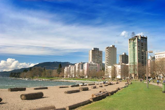 English Bay Beach em Vancouver