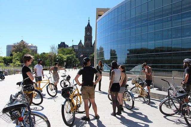Passeio de bicicleta em Toronto
