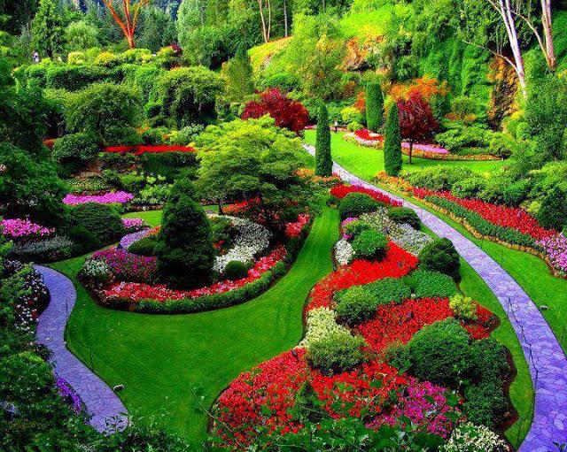 Jardins de Butchart no Canadá