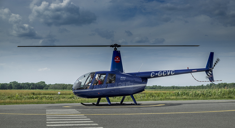 Aeronave do passeio de helicóptero em Montreal